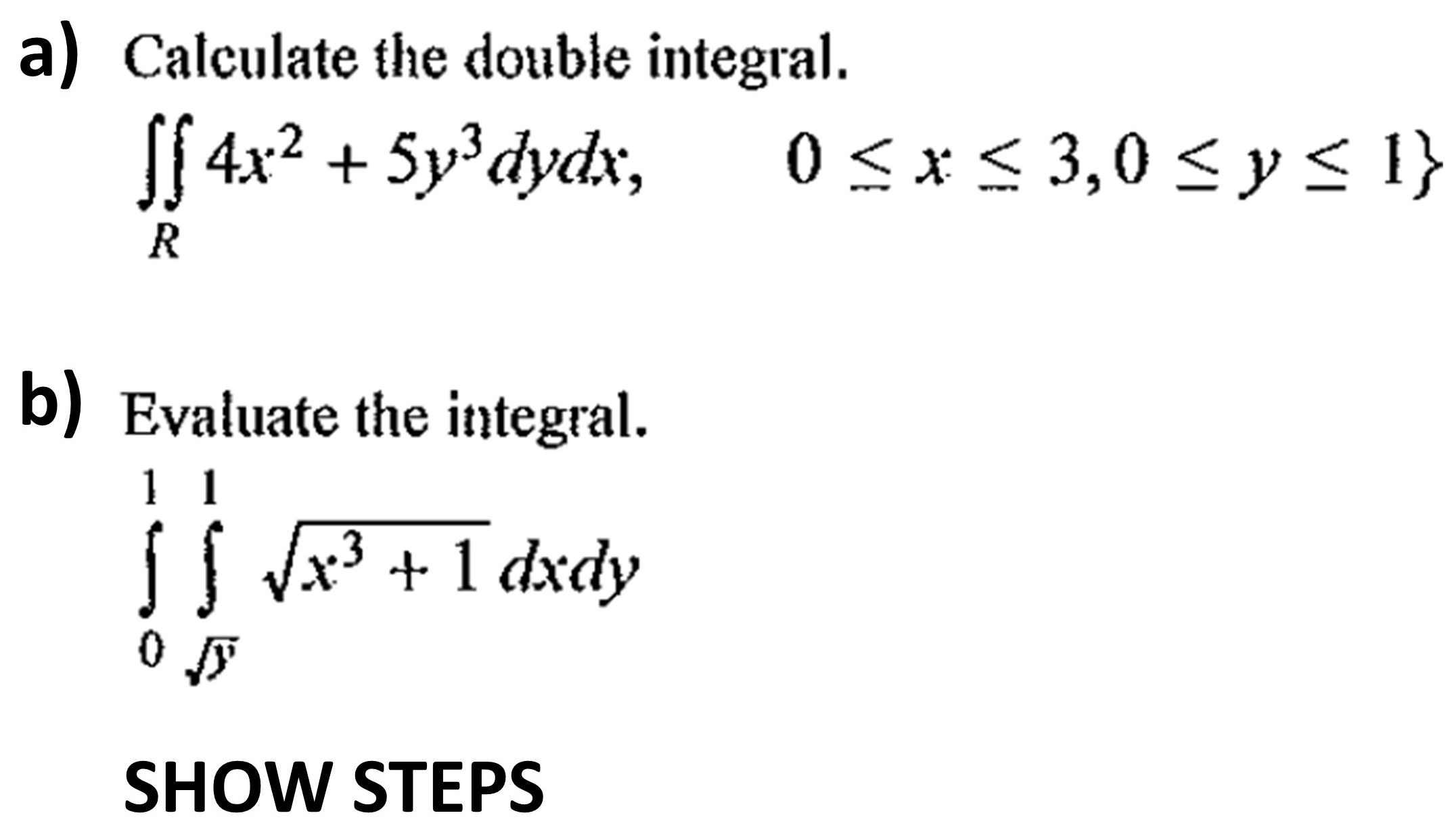 Solved: Calculate The Double Integral  Double Integral_R 4