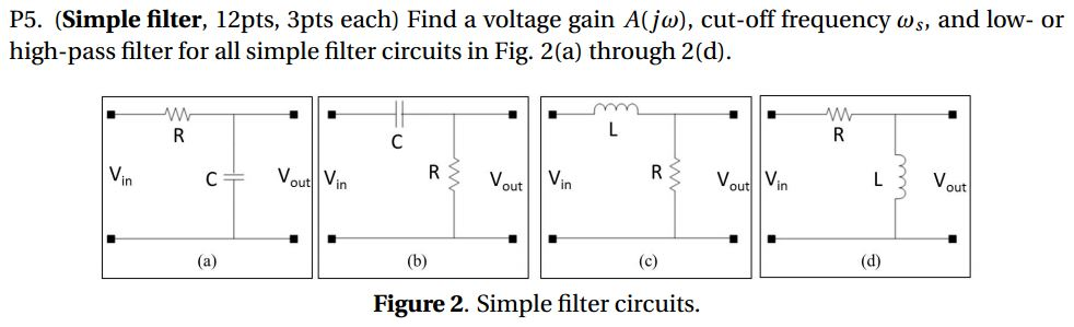 Solved: Find A Voltage Gain A(j Omega), Cut-off Frequency