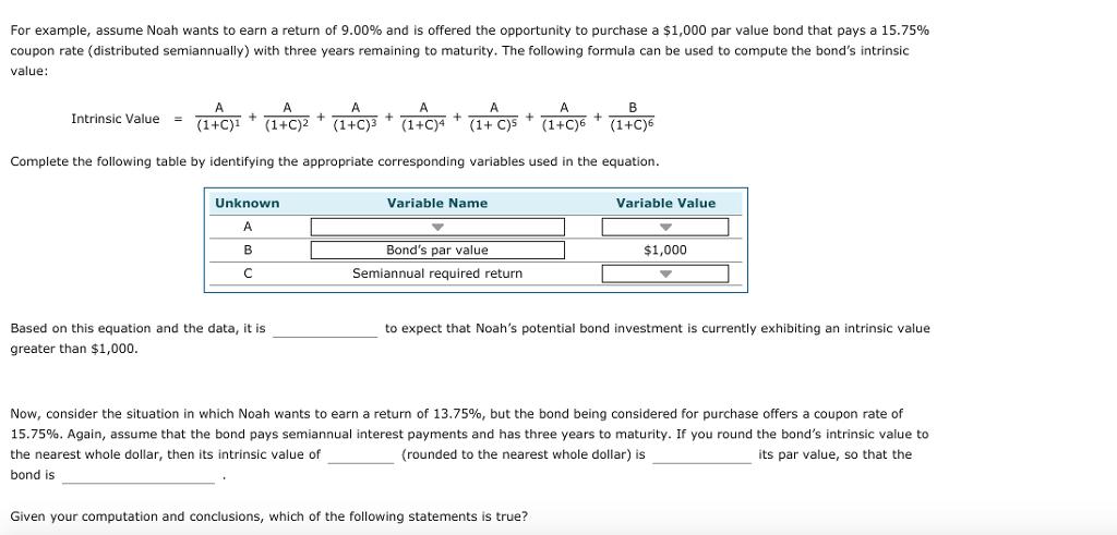 par value example