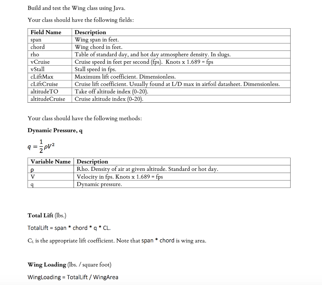 Build and test the wing class using java your clas chegg build and test the wing class using java your class should have the following fields field hexwebz Choice Image