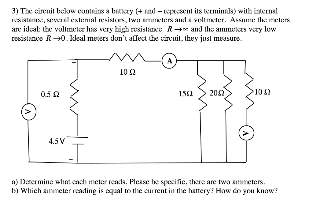 Solved The Circuit Below Contains A Battery And Repr