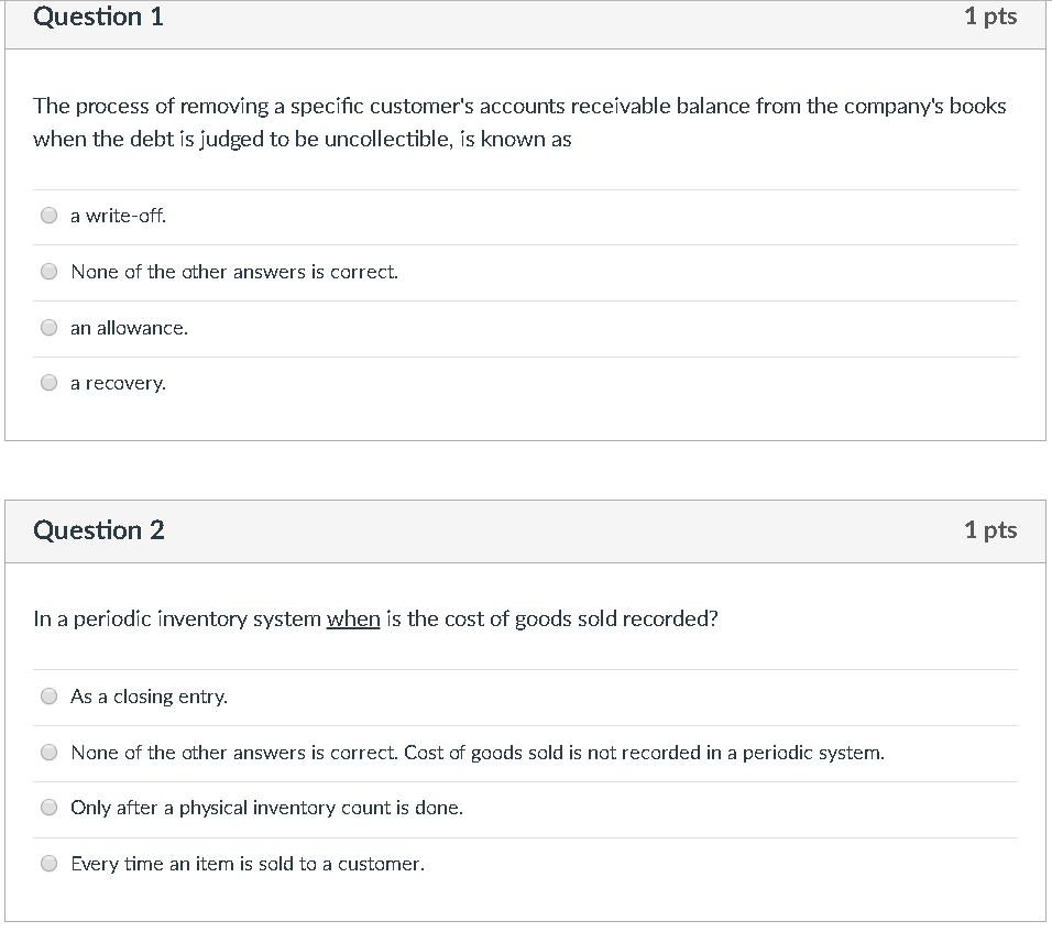 Solved: Question 1 1 Pts The Process Of Removing A Specifi
