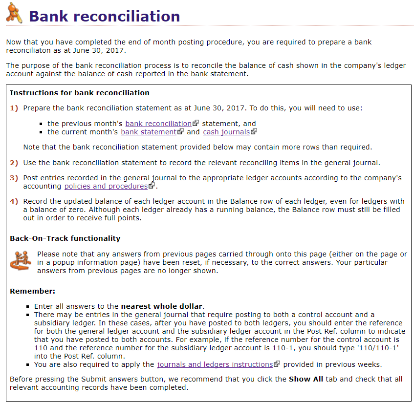 solved prepare a bank reconciliation for the month of jun