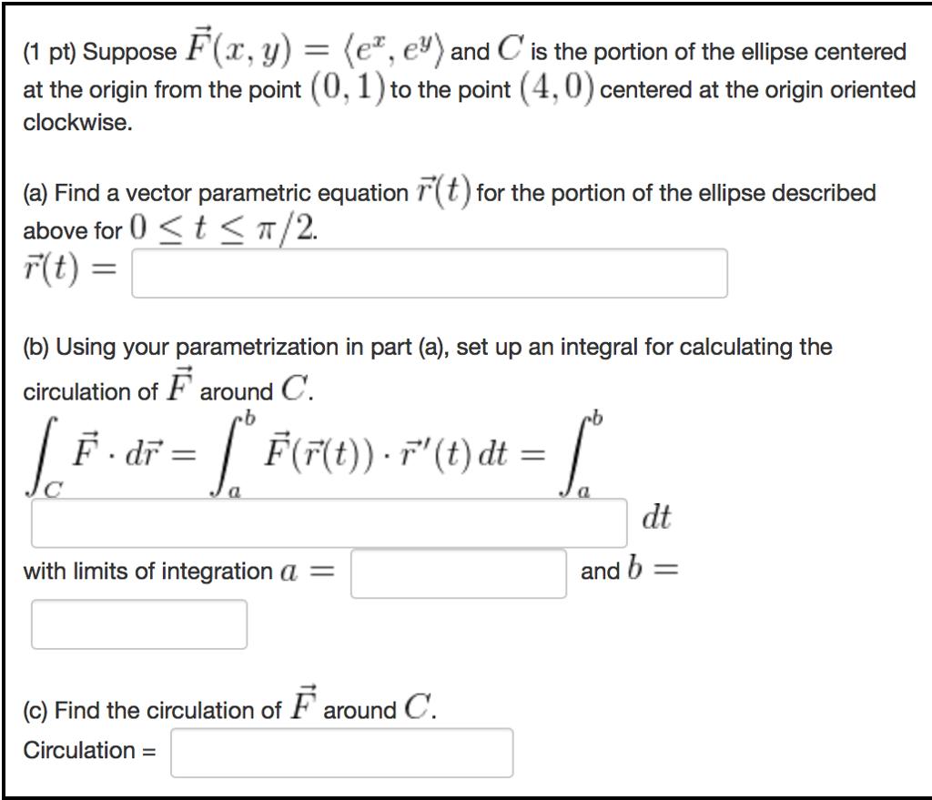 (1 Pt Suppose F(a, Y) F Er, E An C