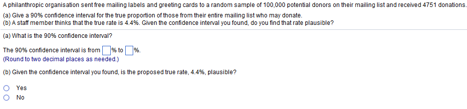 Solved: A Philanthropic Organisation Sent Free Mailing Lab
