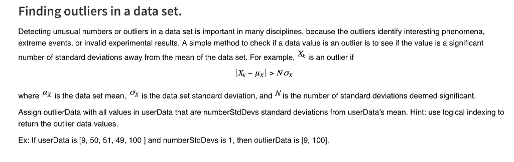 Solved: Finding Outliers In A Data Set Detecting Unusual N