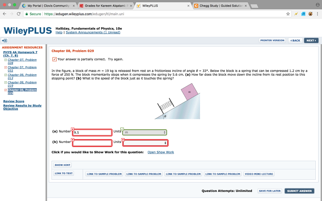 Solved: C My Portal | Clovis Community 、E Grades For Kare