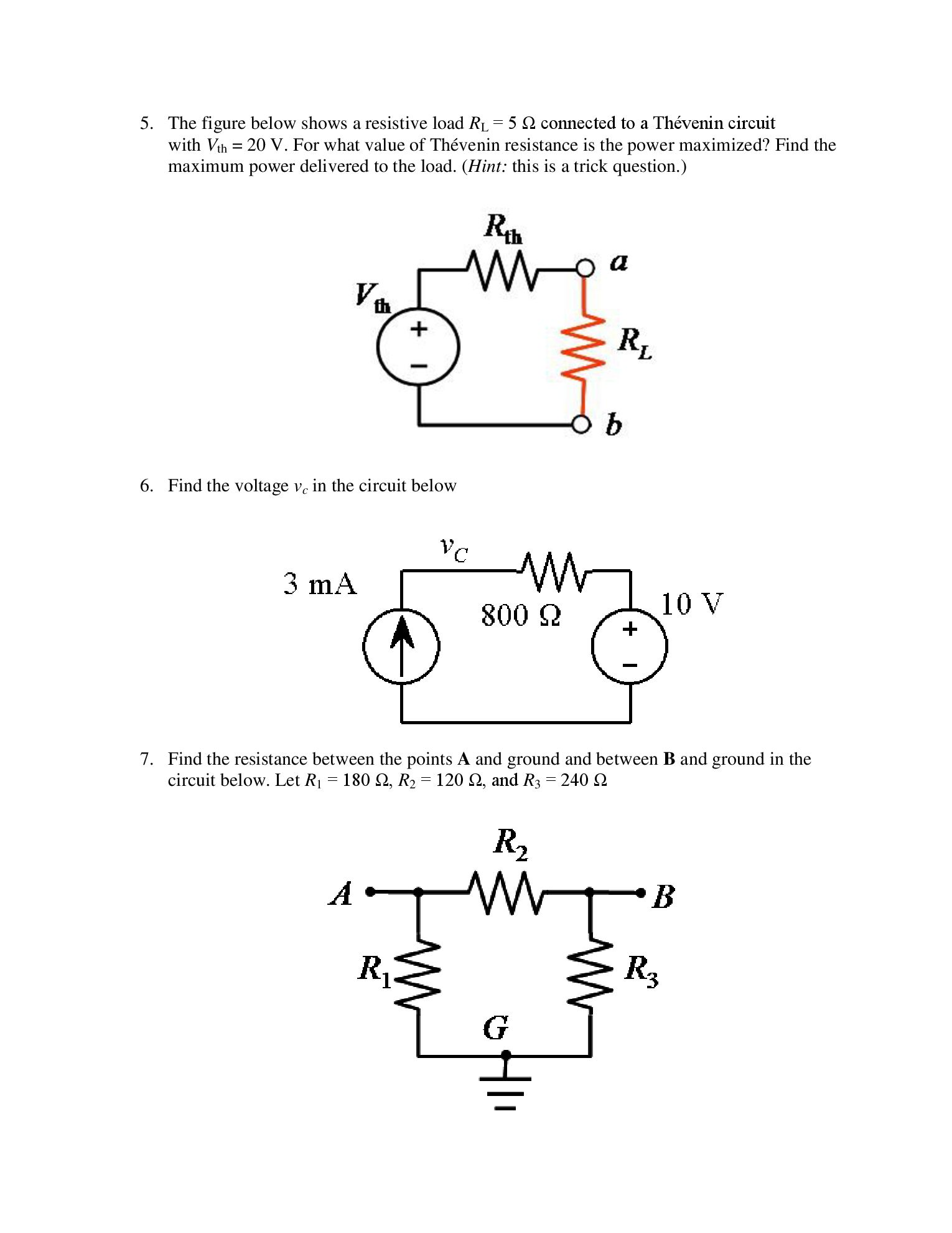 solved determine the thevenin voltage and resistance of t