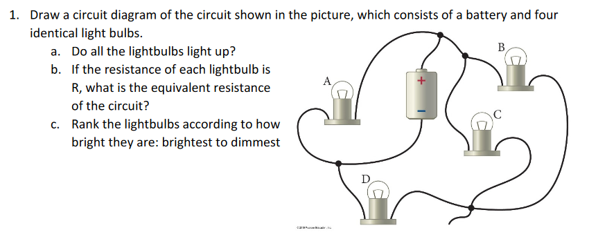 Solved Draw A Circuit Diagram Of The Circuit Shown In The