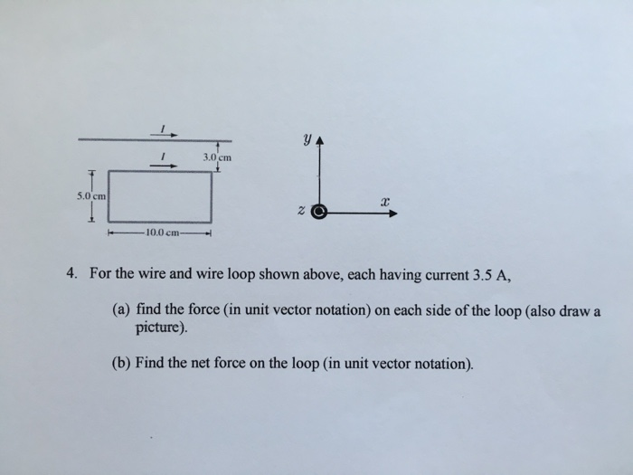 Solved: For The Wire And Wire Loop Shown Above, Each Havin ...