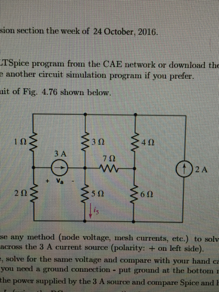 Solved: 1. Consider The Circuit Of Fig. 4.76 Shown Below ...