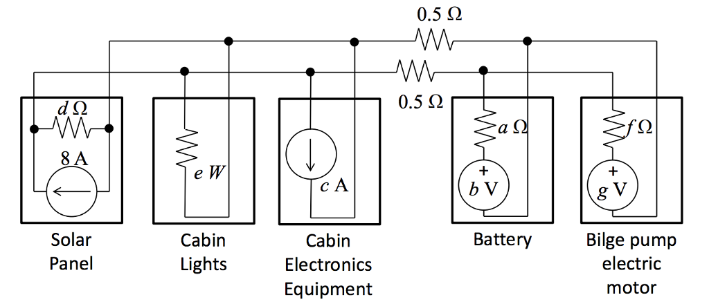 Solved: Draw A Circuit Diagram Of The System Described Abo ... on simplified battery diagram, simplified clutch diagram, simplified plumbing diagram,
