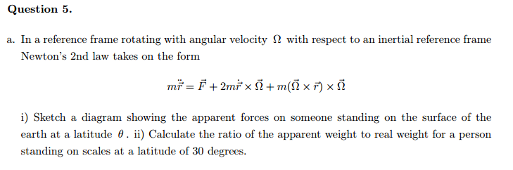 Solved: A. In A Reference Frame Rotating With Angular Velo ...