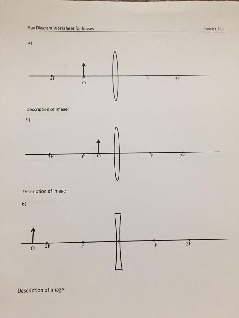 Lenses Ray Diagram Worksheet Product Wiring Diagrams