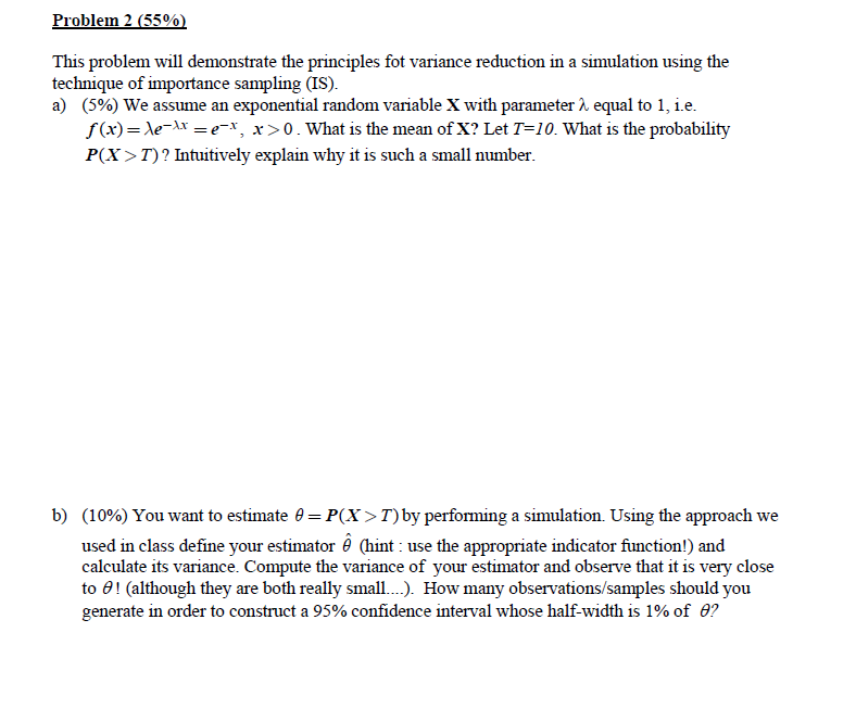Problem 2 (55% This Problem Will Demonstrate The P      Chegg com