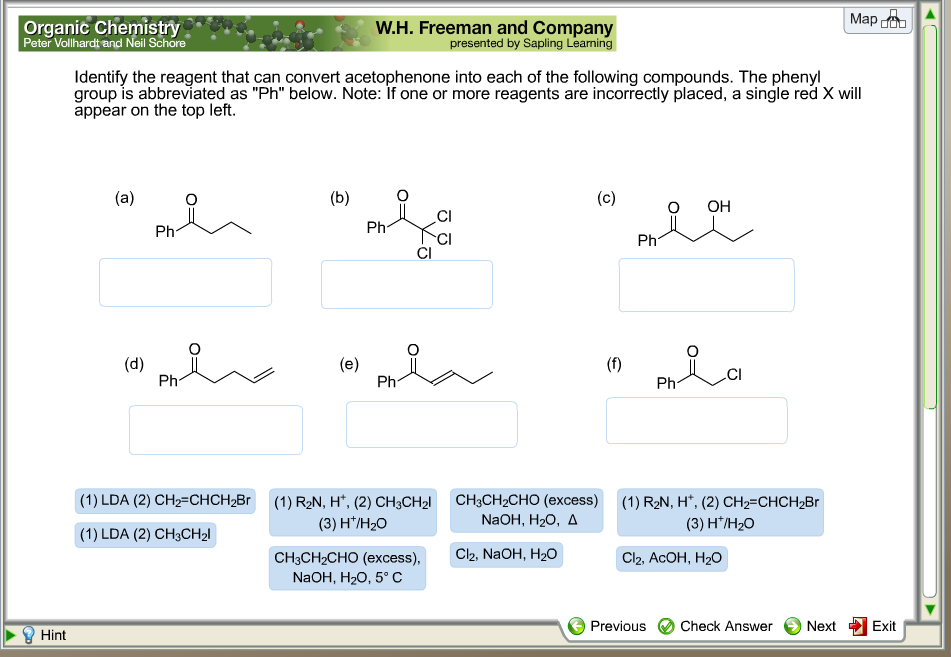 Solved: Identify The Reagent That Can Convert Acetophenone