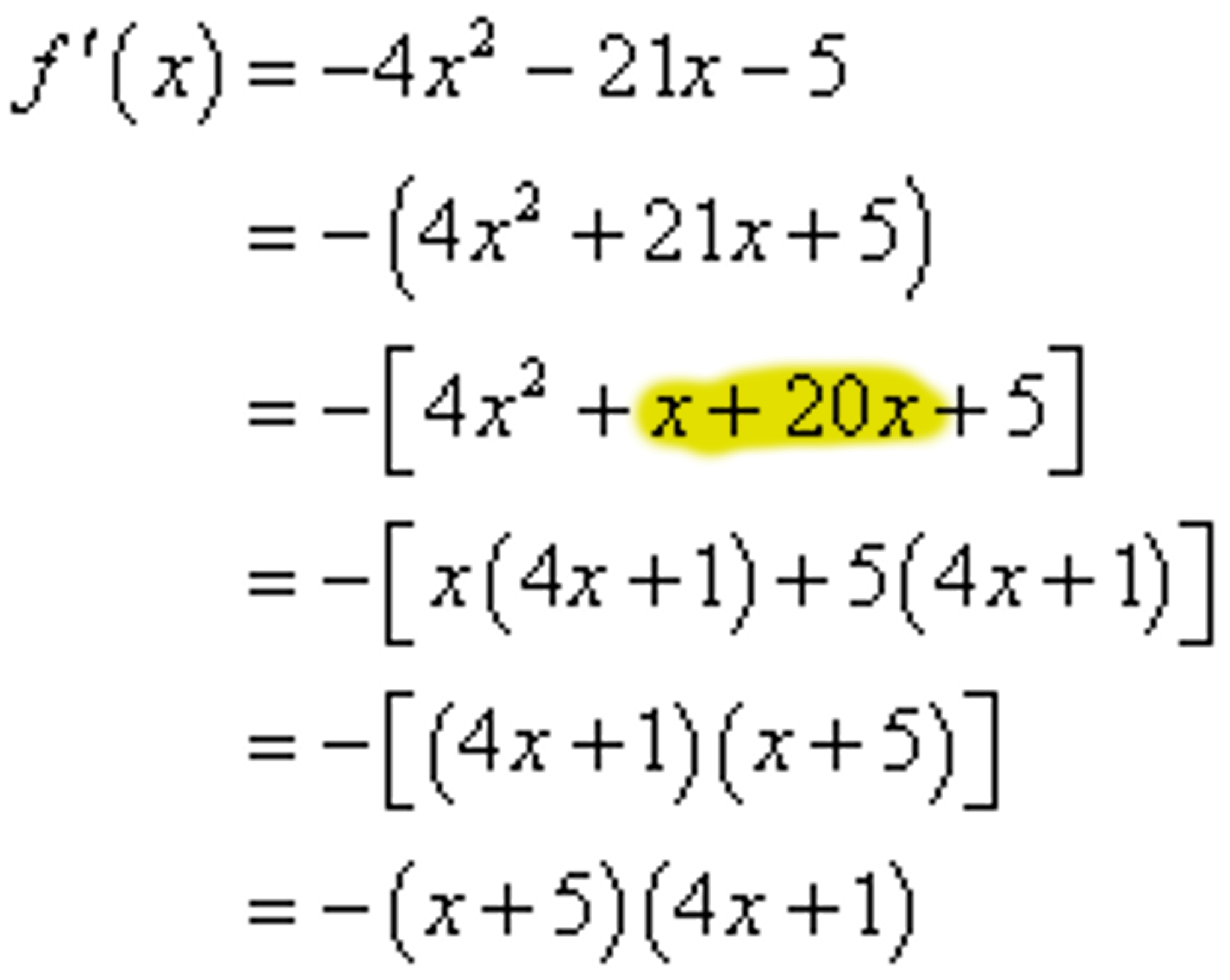 solved i have a factoring question on this problem how d