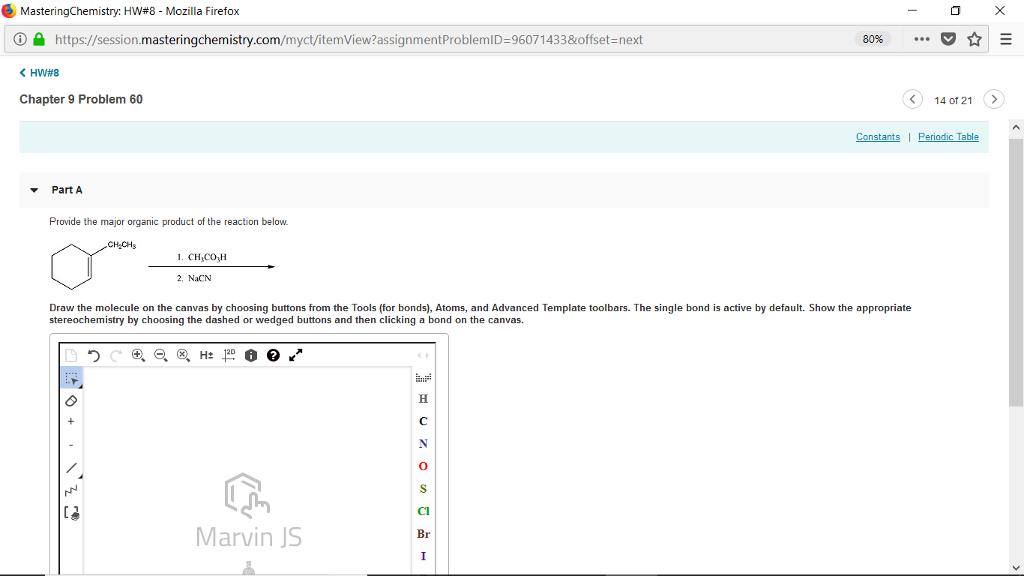 Solved: MasteringChemistry  HW#8-Mozilla Firefox ⓘe Httpss