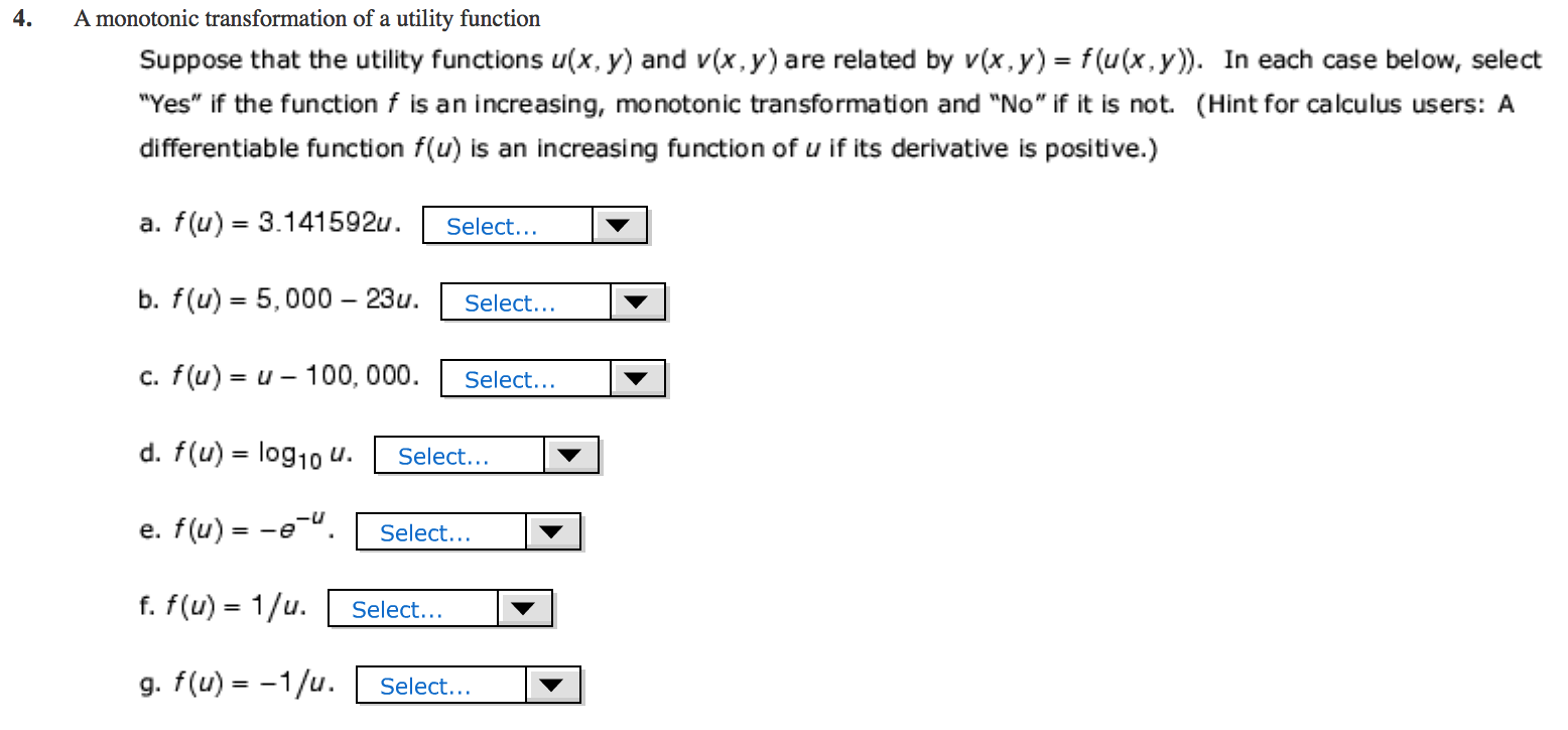 Utility function Kinds of utility functions 18