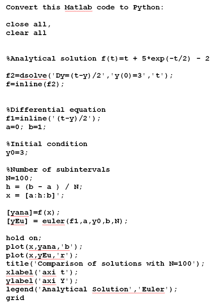 dd45a45d6bb Solved  Convert This Matlab Code To Python  Close All