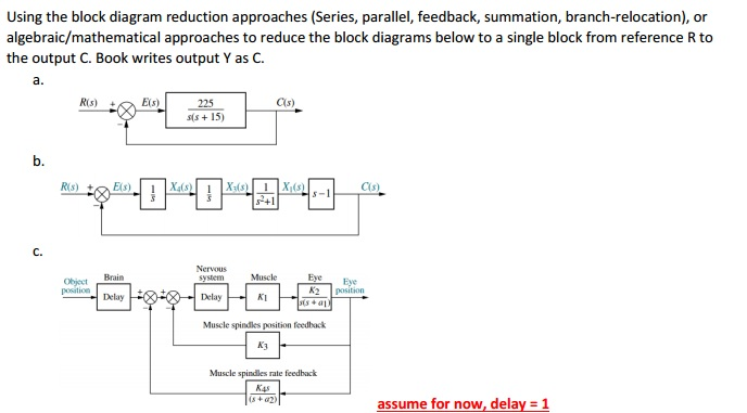 Solved Using The Block Diagram Reduction Approaches Seri