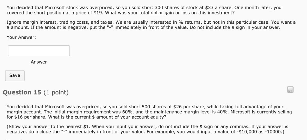 solved you decided that microsoft stock was overpriced s