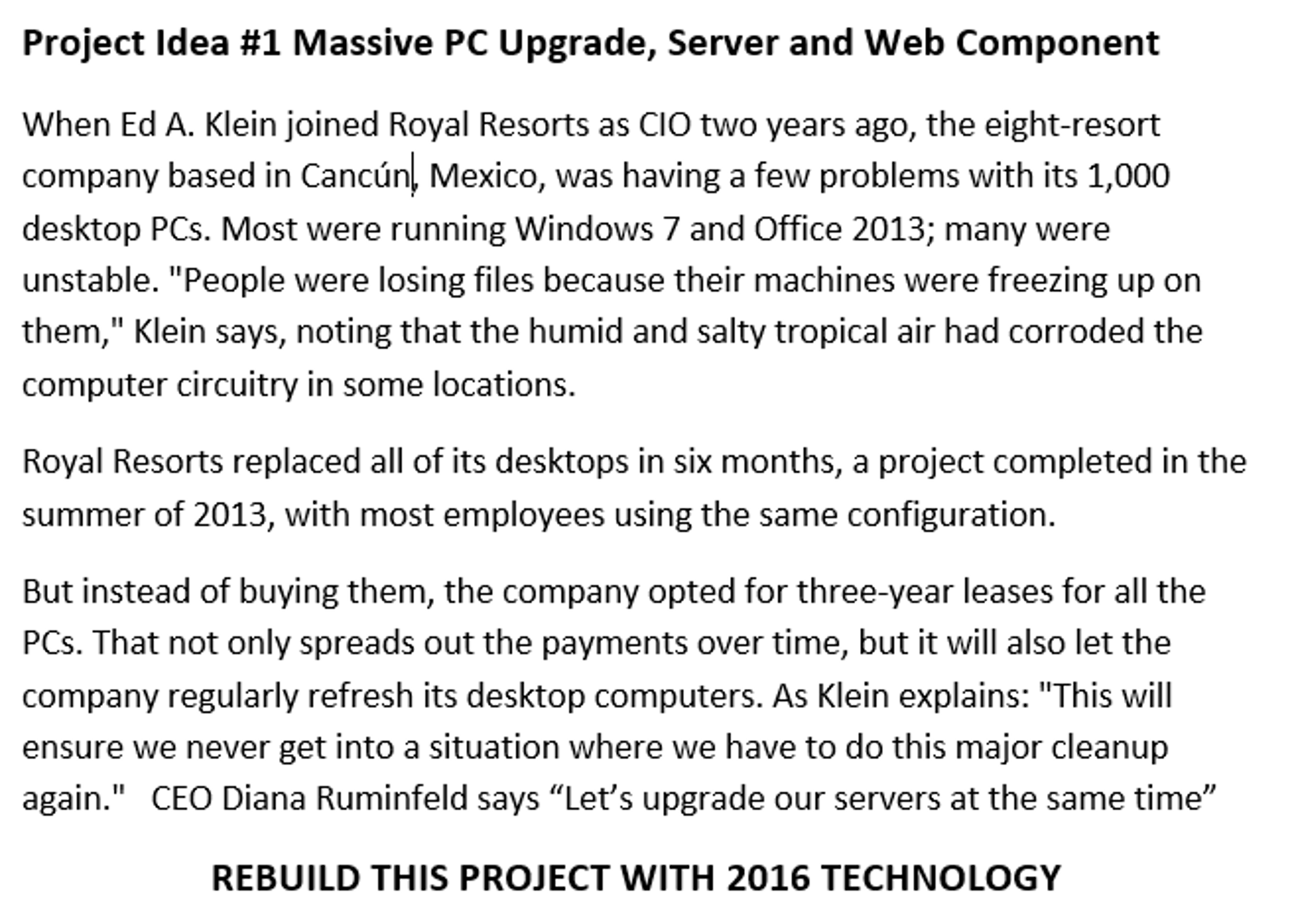 Solved: Project Idea #1 Massive PC Upgrade, Server And Web