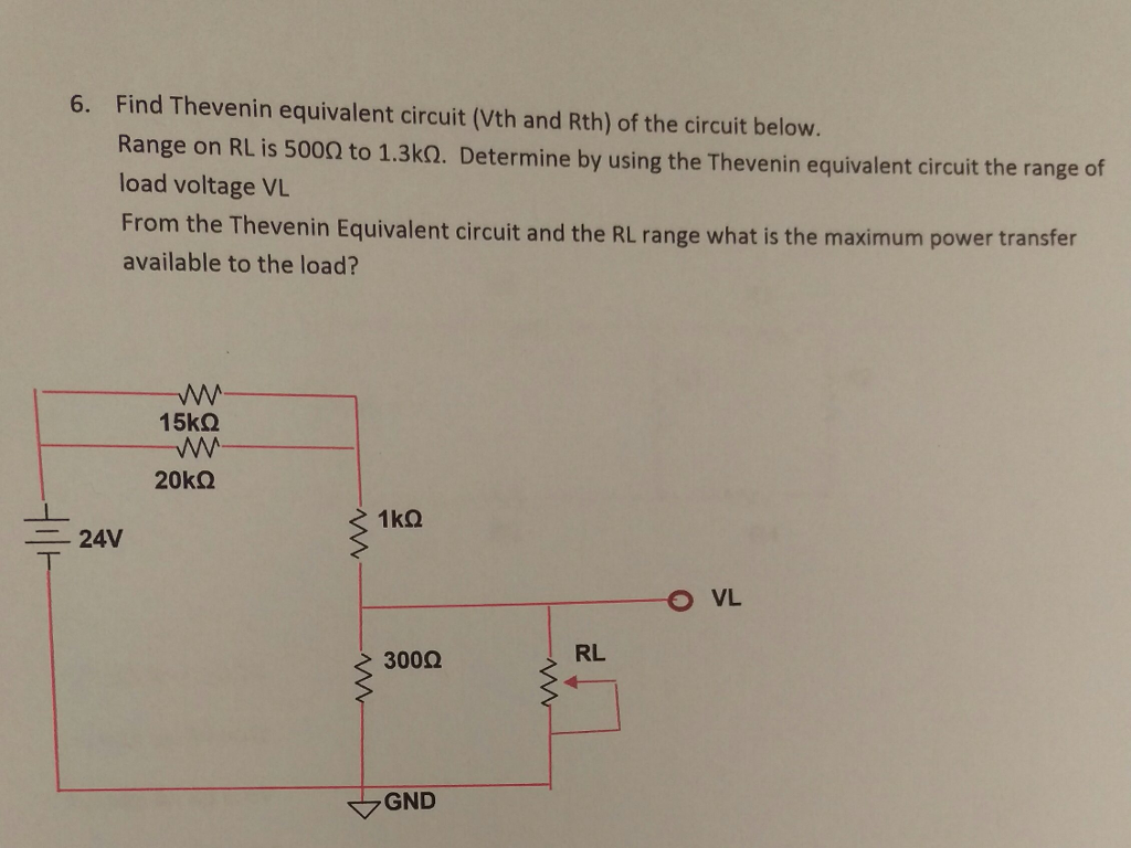 Find Thevenin equivalent circuit Vth and Rth