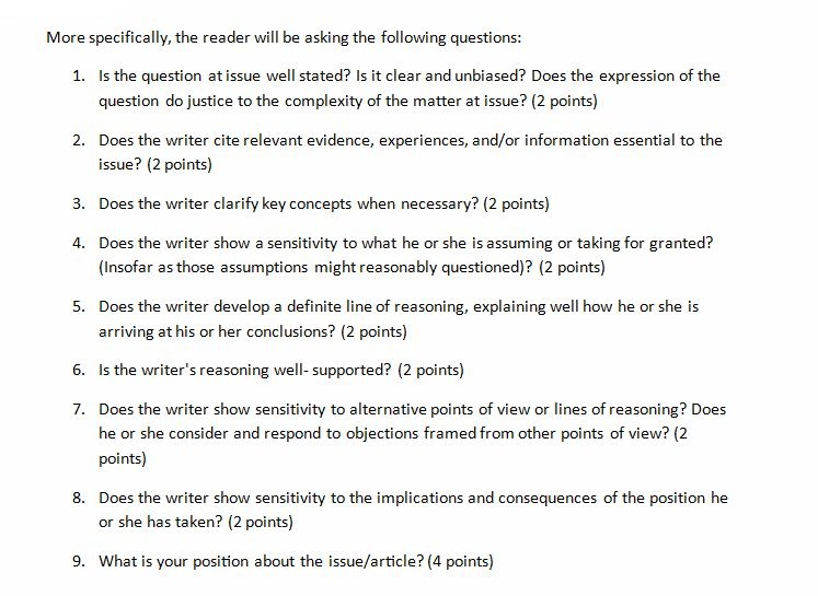 Critical thinking questions literature
