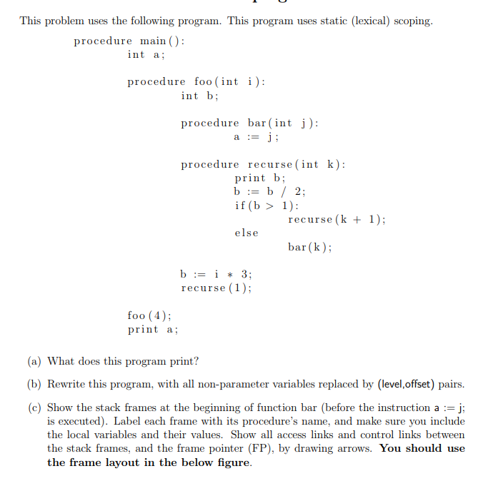 Solved: This Problem Uses The Following Program. This Prog ...