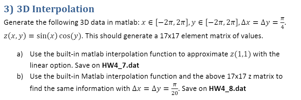 Solved: 2) 2D Interpolation Using The Following Data 4 7 Y