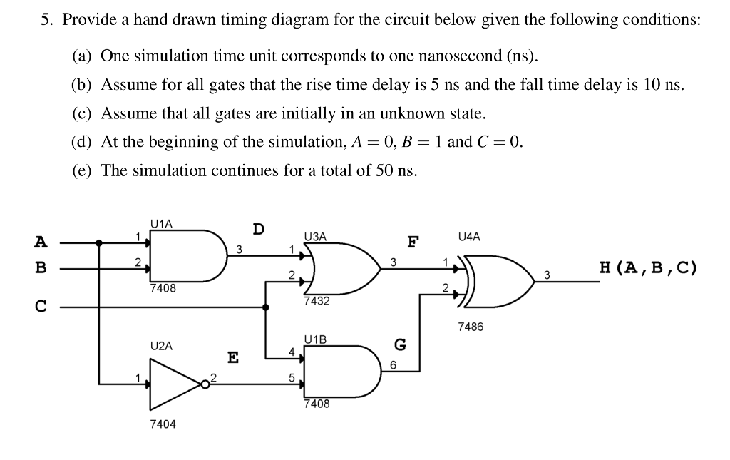 Amazing Solved 5 Provide A Hand Drawn Timing Diagram For The Cir Wiring 101 Akebretraxxcnl