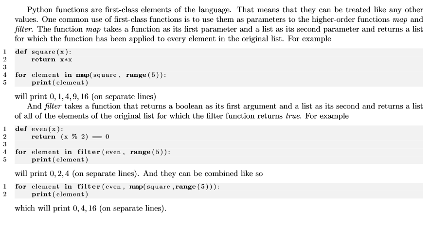 Solved Python Functions Are First Class Elements Of The L
