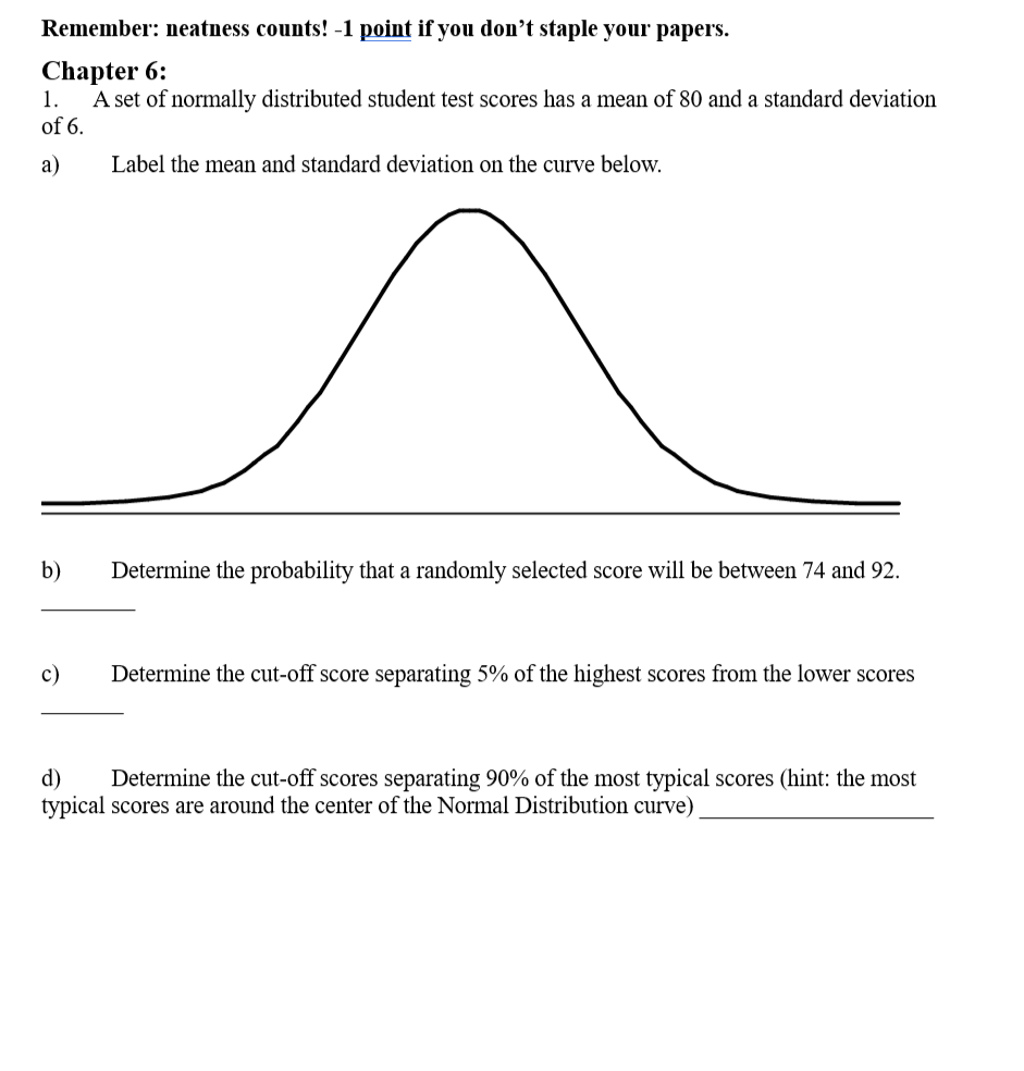 Statistics and probability archive february 05 2018 chegg remember neatness counts 1 polnt if you dont staple your papers chapter 6 fandeluxe Image collections
