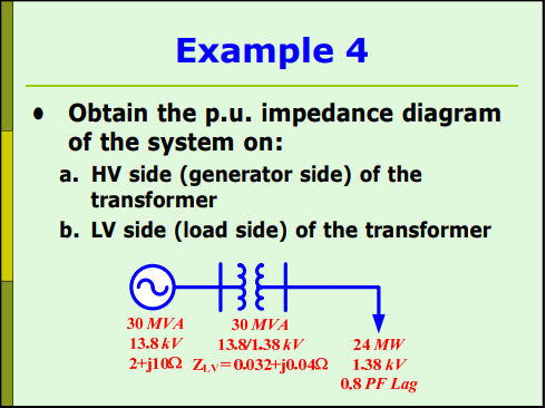 Solved example 4 e obtain the pu impedance diagram of t example 4 e obtain the pu impedance diagram of the system on a hv ccuart Images