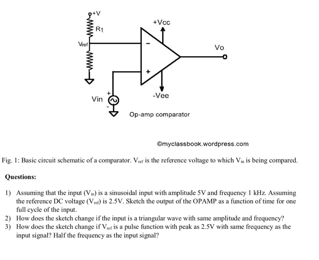 Solved Vcc R1 Vref Vo Vee Op Amp Comparator Myclassboo Opamp Circuit Myclassbookwordpress