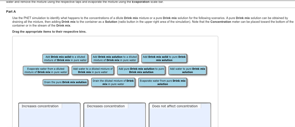 Solved: Use The PhET Simulation To Identify What Happens T ...