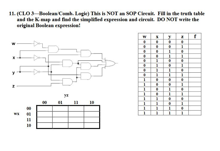 [DIAGRAM_4PO]  Solved: This Is NOT An SOP Circuit. Fill In The Truth Tabl... | Chegg.com | K Map Logic Diagram |  | Chegg