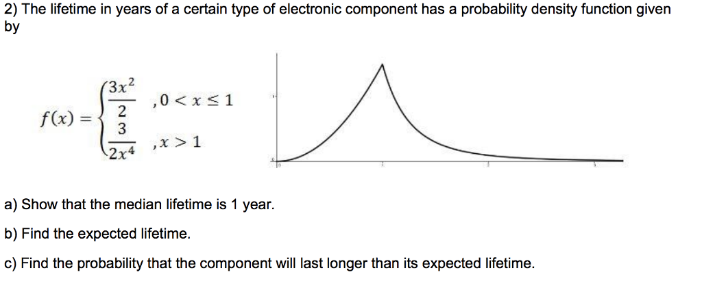 Solved: 2) The Lifetime In Years Of A Certain Type Of Elec ...