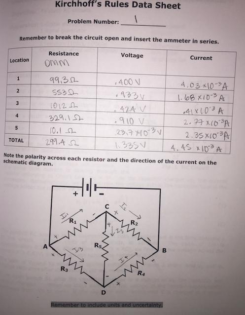 Solved: A. Determine The Net Current Flow Into Each Juncti ...
