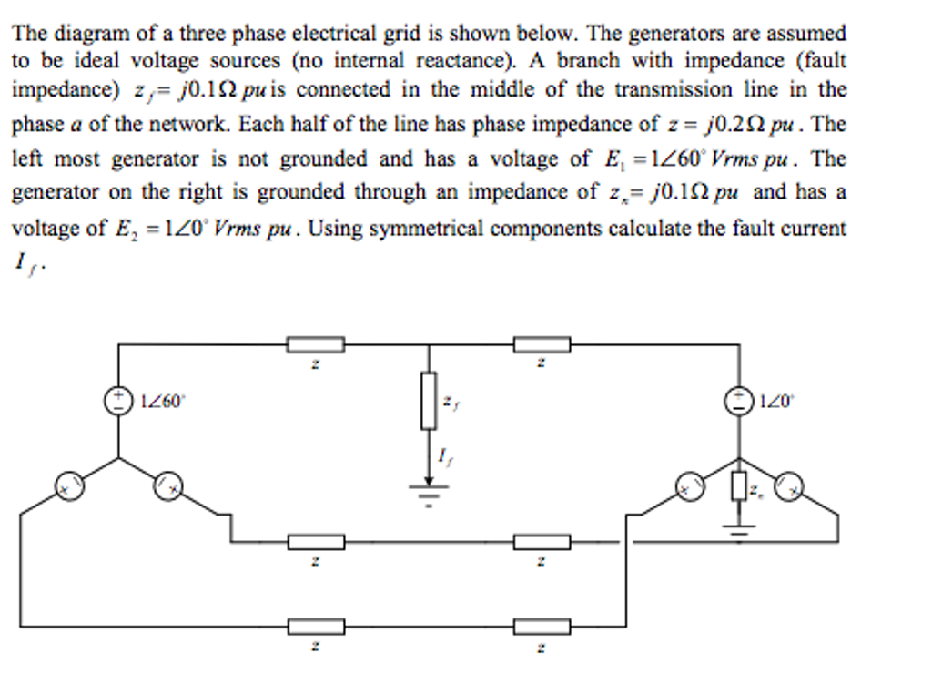 Astonishing The Diagram Of A Three Phase Electrical Grid Is Sh Chegg Com Wiring Database Hyediarchgelartorg