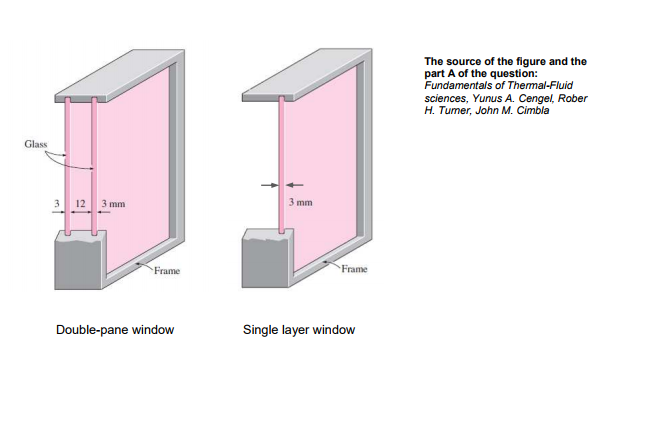 Solved Consider A 12 M High And 2 M Wide Double Pane Win