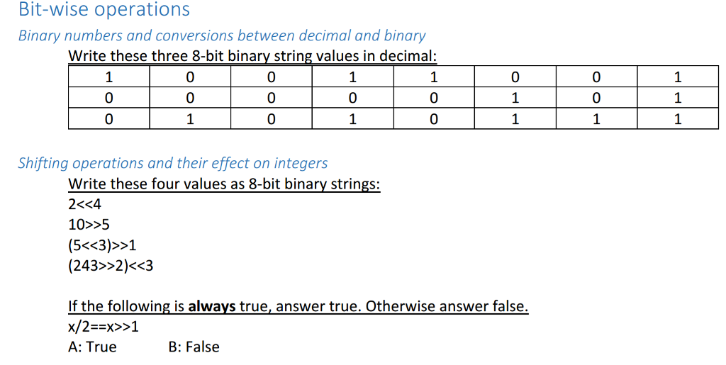 Solved: Binary Numbers And Conversions Between Decimal Bin