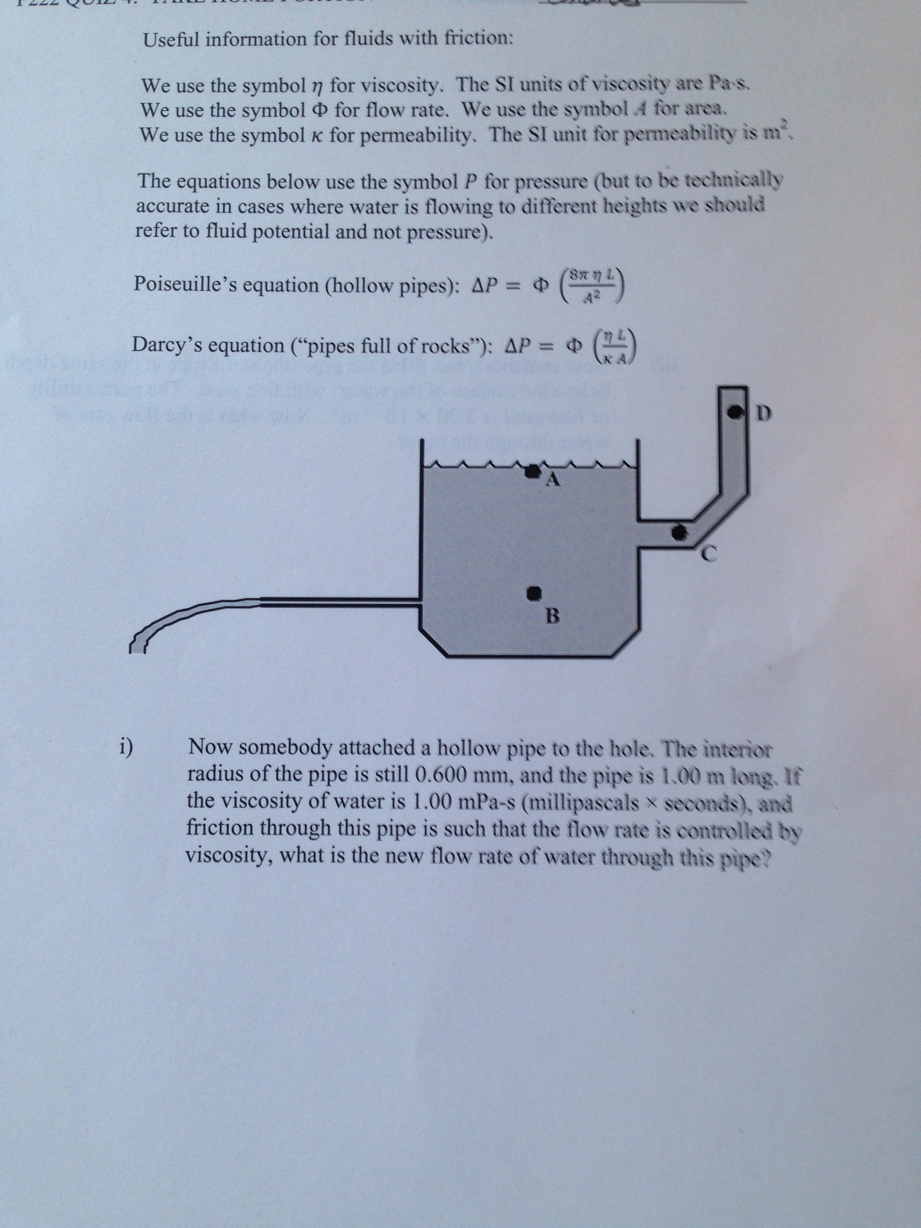 Solved Fluids With Friction We Looks The A Point As The Z