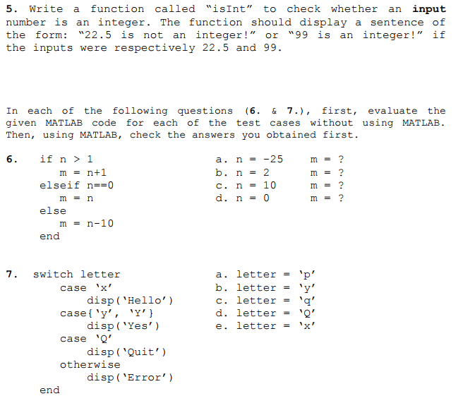 Write A Function Called IsInt To Check Whether An Input Number Is Integer