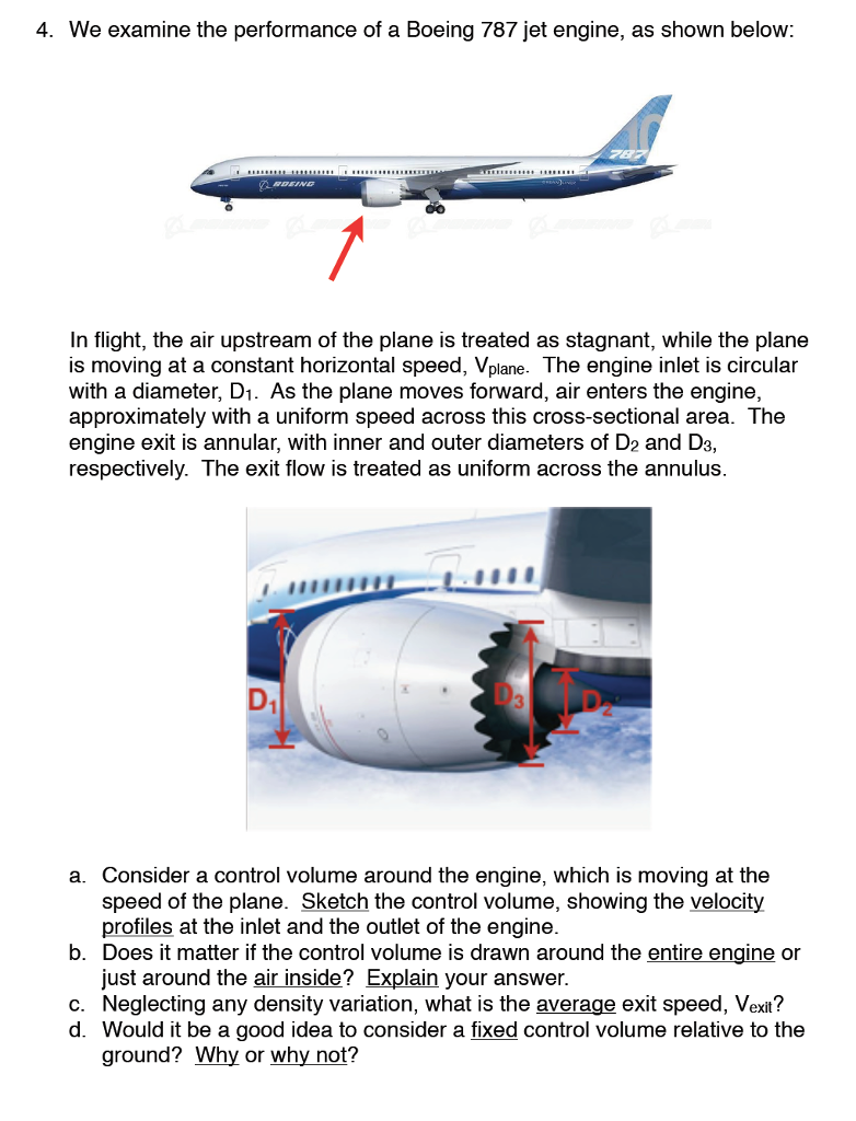 solved 4 we examine the performance of a boeing 787 jet rh chegg com