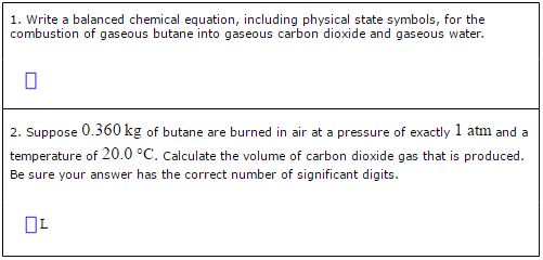 Solved Combustion Of Hydrocarbons Such As Butane C4h10