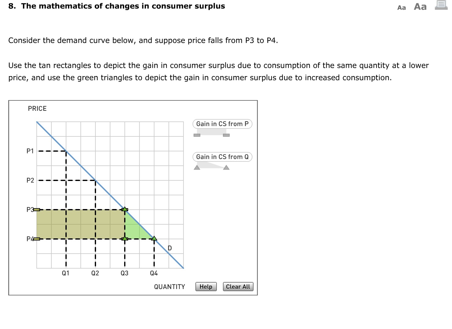 Solved: The Mathematics Of Changes In Consumer Surplus | Chegg.com