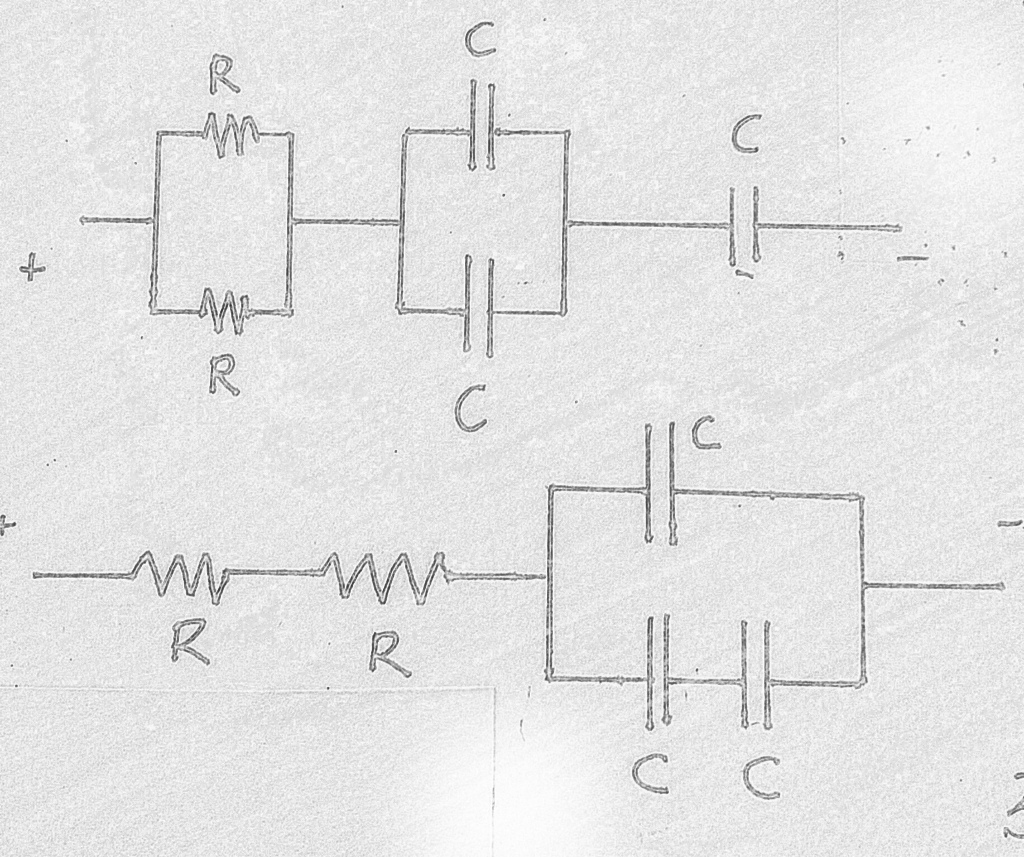 Solved If The Upper Rc Circuit In Diagram Below Is R C Time Constant Disassembled And Reconstructed As Lower Then What Change All Resistors Have Resistance