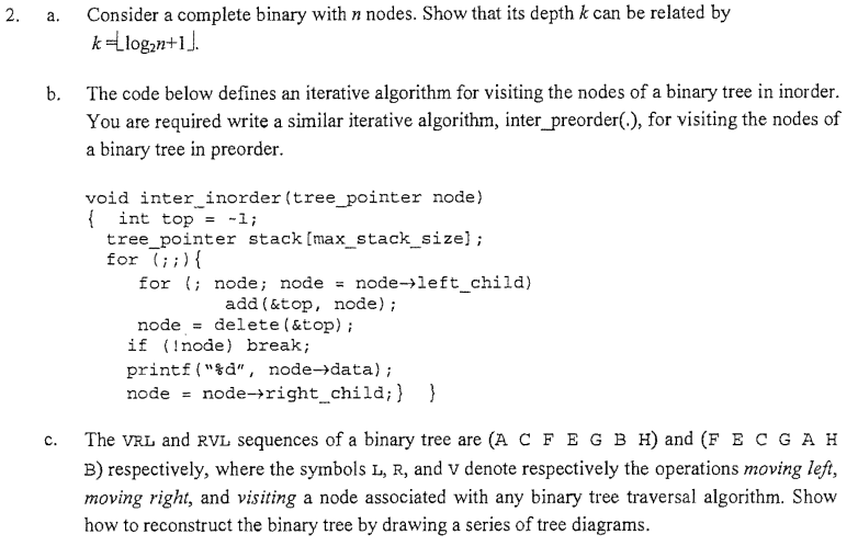 Solved: Consider A Complete Binary With N Nodes  Show That